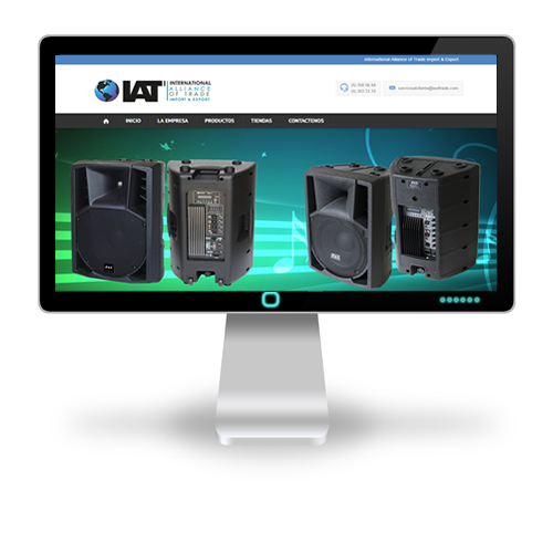 Pagina web IAT - International Alliance of Trade import & Export.