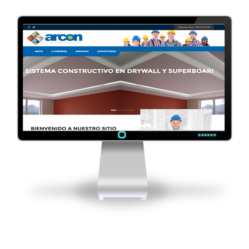 Pagina web Arcon - Soluciones Integrales