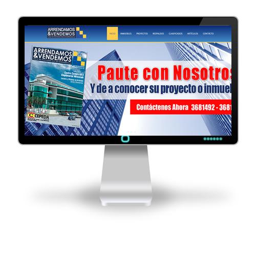 Pagina web Revista Arrendamos y Vendemos