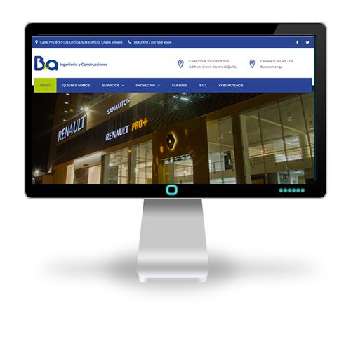Pagina web B&A Ingeniería