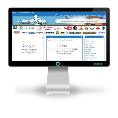 Pagina web Colombia Inicio