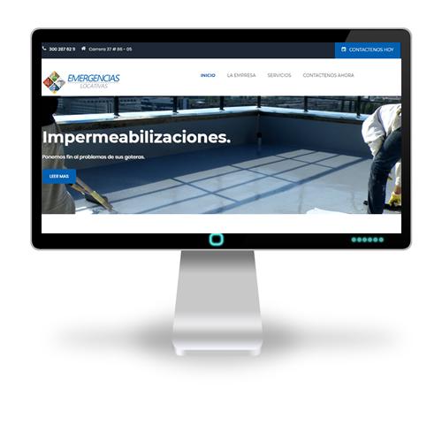 Pagina web Emergencias Locativas