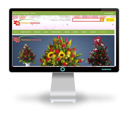 Pagina web Floristería Americana