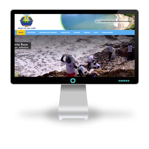 Pagina web Fundación Amigos del Mar Caribe