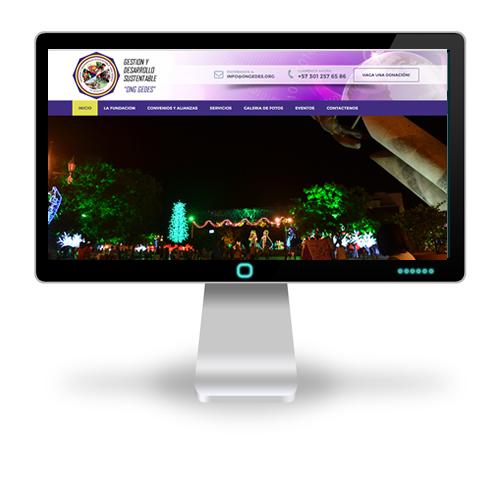 Pagina web Fundación GEDES