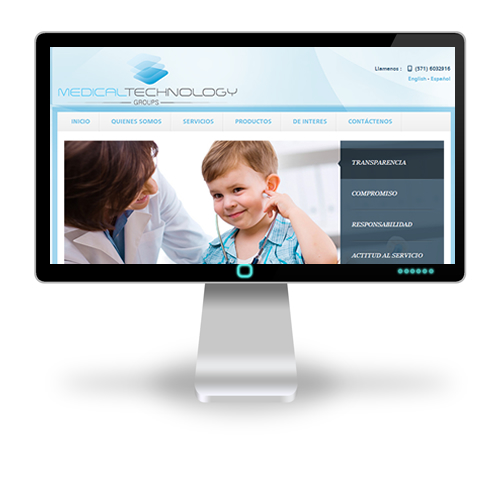 Pagina web Medical Technology