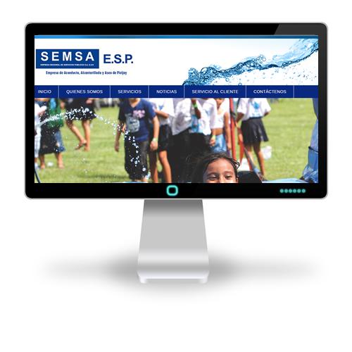 Pagina web SEMSA ESP - Acueducto Pivijay