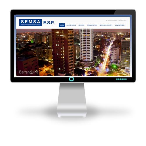 Pagina web SEMSA ESP