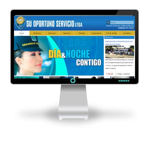 Pagina web S.O.S. Su Oportuno Servicio Ltda.