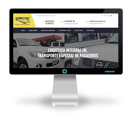 Pagina web Transporte Vuelomax