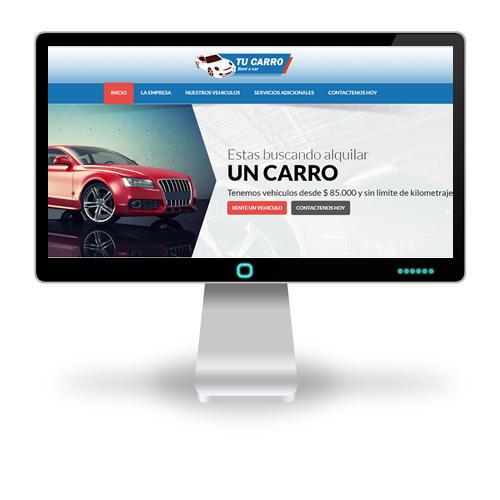 Pagina web Tu Carro Rent a Car
